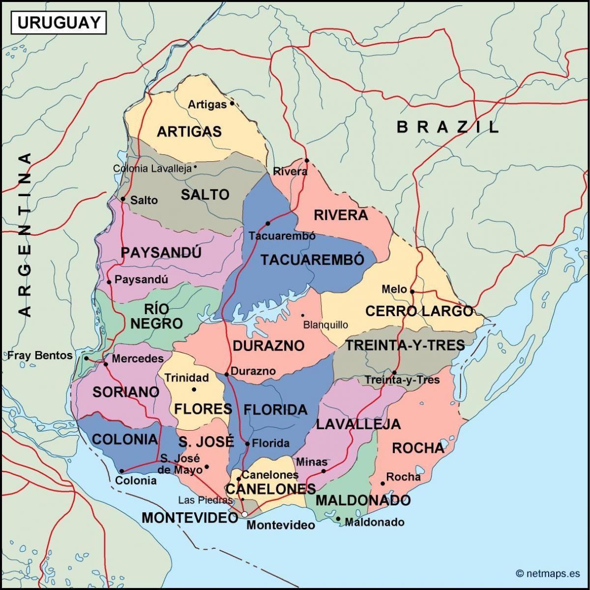 Carte Amerique Latine Uruguay.Maldonado L Uruguay Carte Carte De Maldonado L Uruguay Amerique